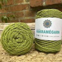 Makramégarn Olivgrön 3 mm