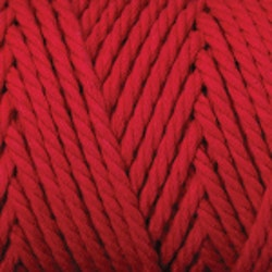 Makramégarn Röd 3 mm