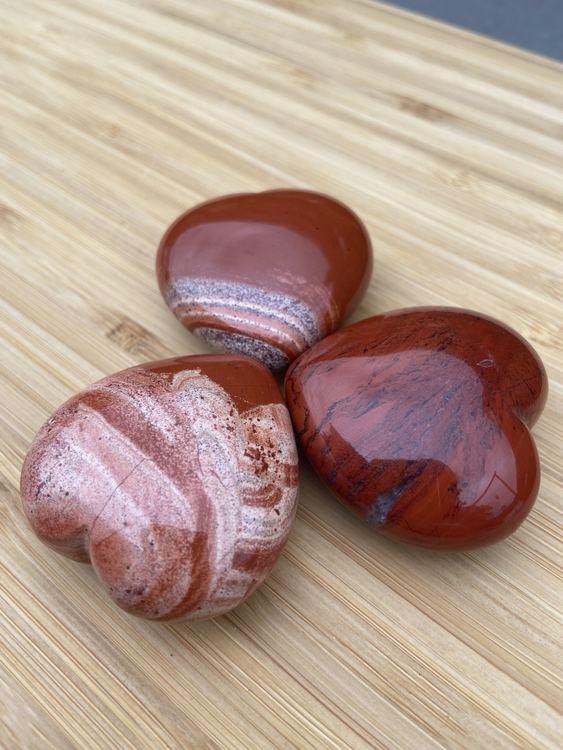 Hjärta Röd Jaspis 4 x 4 cm