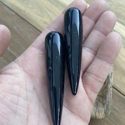 Svart Obsidian Akupressurstav