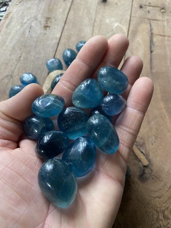 Fluorit Blå