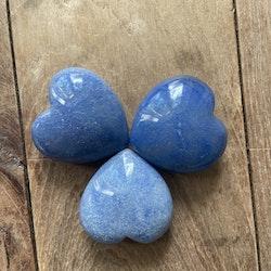 Hjärta Blå kvarts 4 x 4 cm