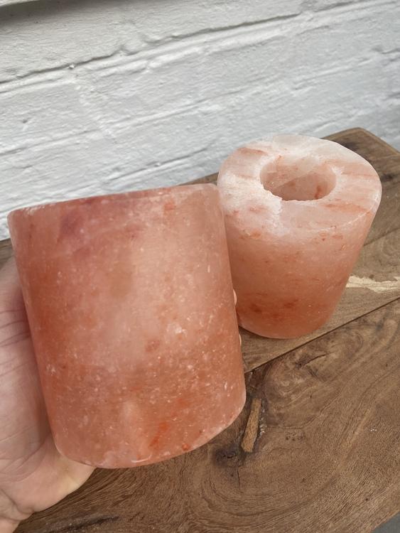 Ljuslykta Himalayasalt Cylinder