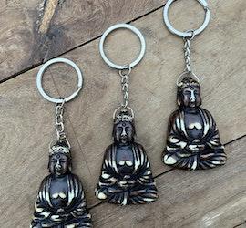 Nyckelring - Sittande buddha (mörk)
