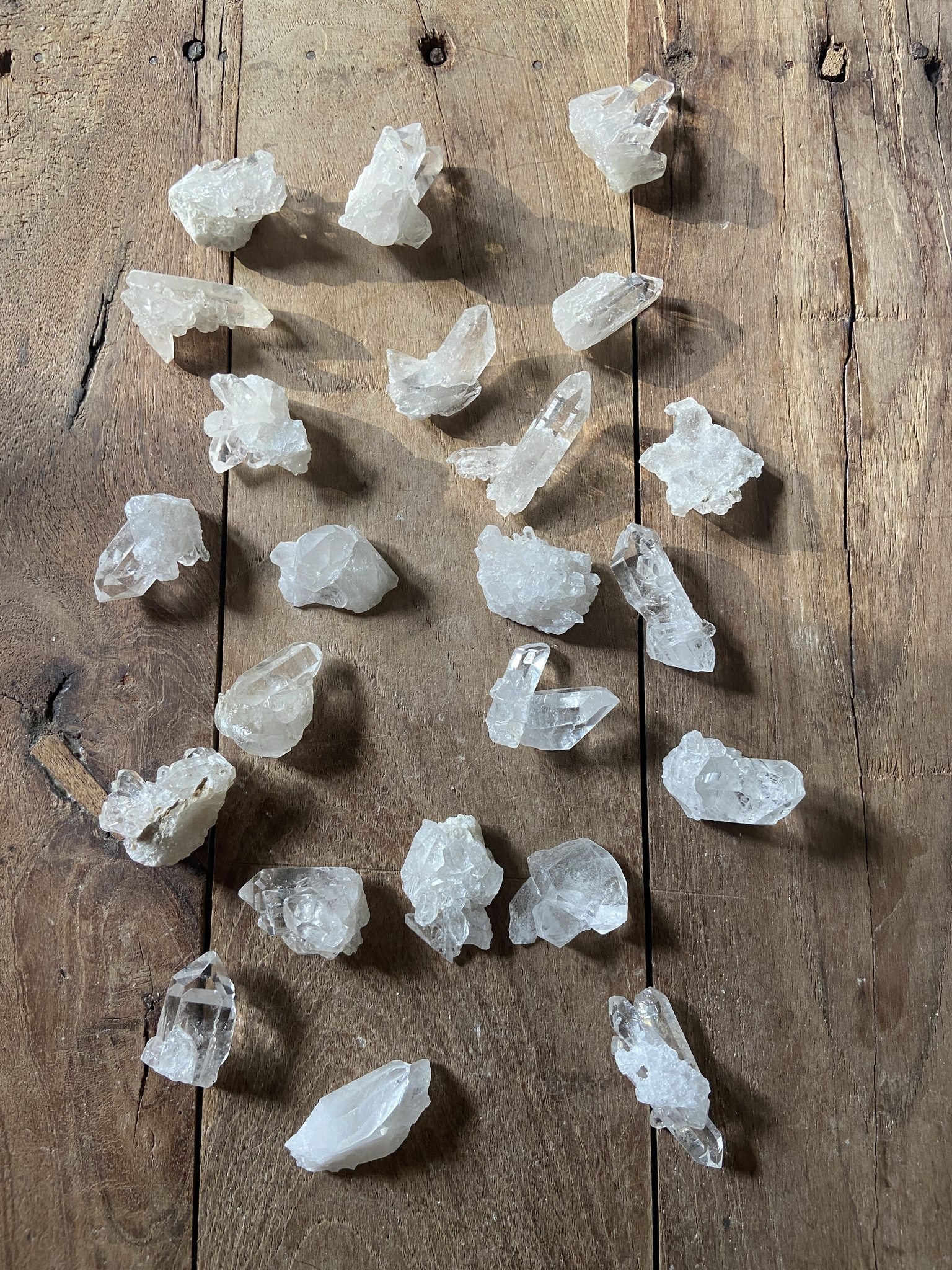 Bergkristallkluster små