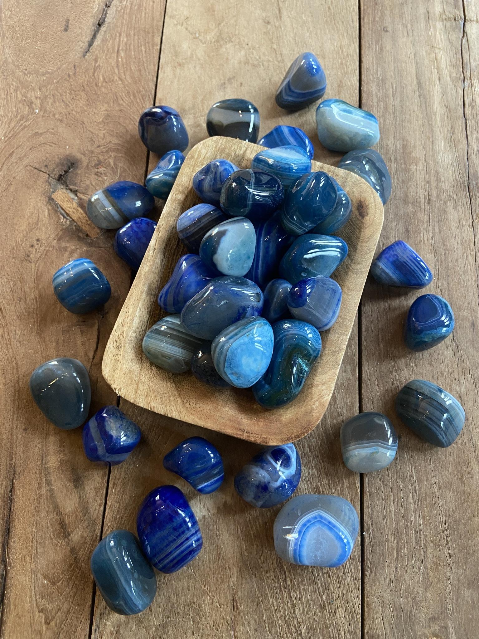 Agat blå