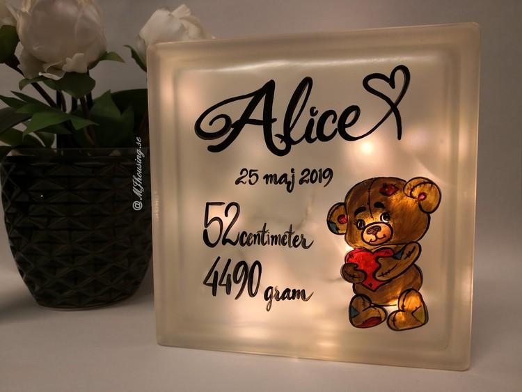 Glasblock med LED belysning