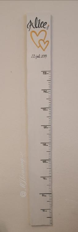 Handmålad &Handtextad mätsticka