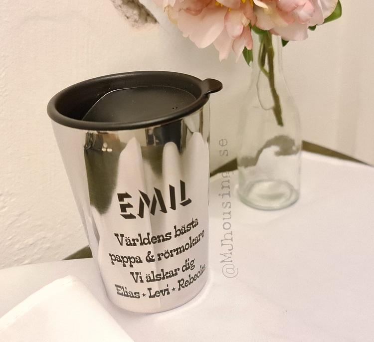 Graverad mugg Ella