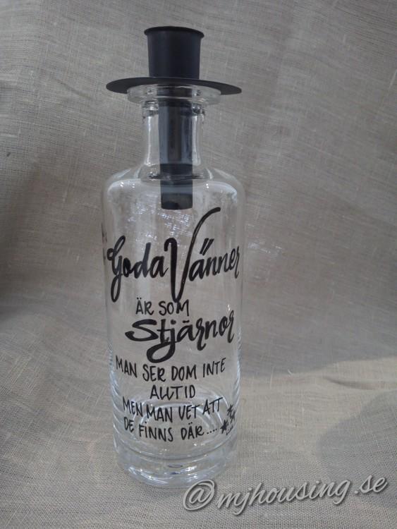 Handtextad flaska med dina ord & tankar