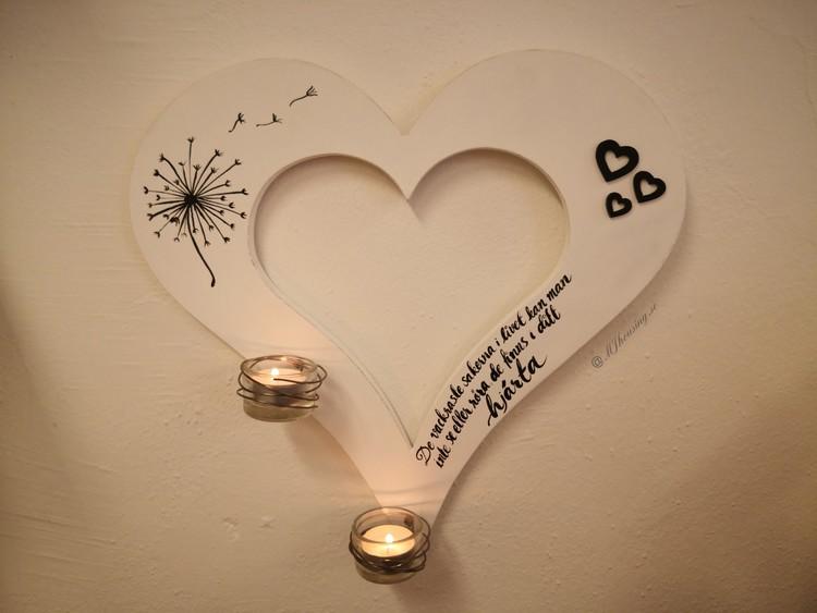 Vägghjärta med dina ord & tankar