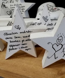 Stjärna med text