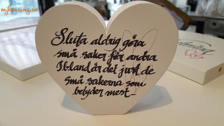 Hjärta med dina ord & tankar