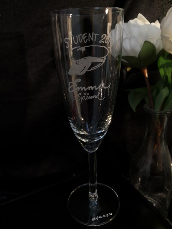 Champagneglas Student & Examen