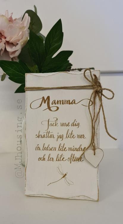 Trätavla MAMMA