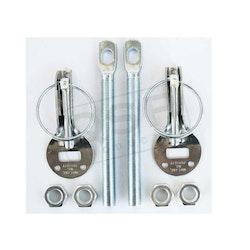 Huvlås silver stål / rostfritt