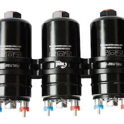 Trippel Fuel pump 340 black E85 med fäste svart