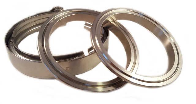 """V-band 3"""" (76mm) kit stål"""