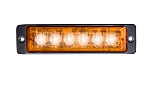 BLIXTLJUS SLIM 6 LED Orange, ADR-godkänd