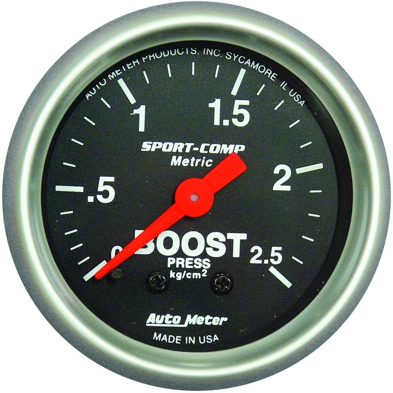 Autometer mekanisk laddtrycksmätare