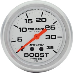 "Autometer 2-5/8"" BOOST, 0-35 PSI"