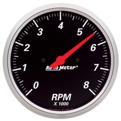 "Autometer 5"" TACH, 8,000 RPM, IN- DASH"