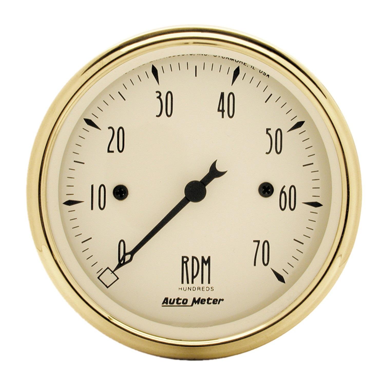 "Autometer 3-1/8"" TACH, 7,000 RPM, 4,6,8 CYL"
