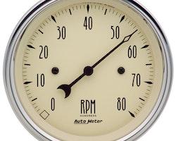 Autometer Antique Beige, 8000 RPM, Electric, Analog