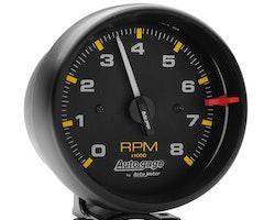 "Autometer 3-3/4"" tach, 8,000 rpm, black"