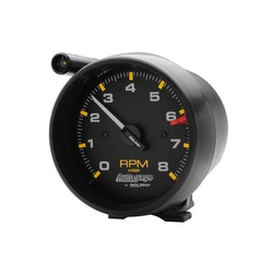 "Autometer 3-3/4"" tach, 8,000 rpm, shift"