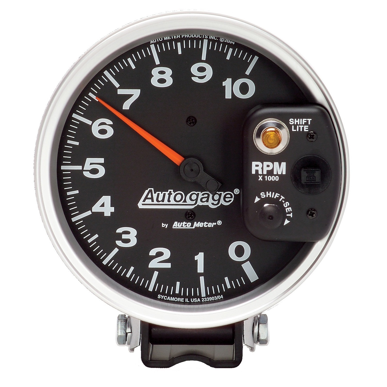 "Autometer 5"" tach, 10,000 rpm, shift"