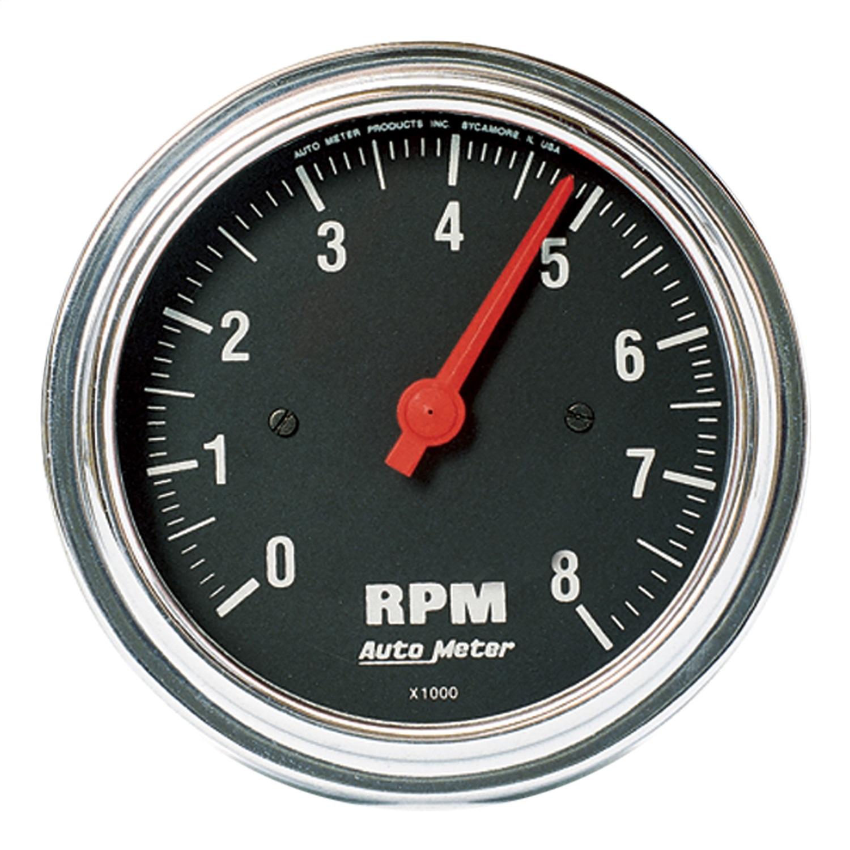 "Autometer 3-3/8"" TACH, 8,000 RPM, 4,6,8 CYL"
