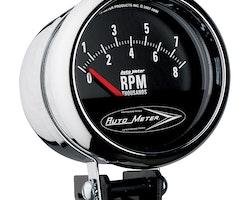 "Autometer 3-3/4"" TACH, 8,000 RPM, SHORT SWEEP"
