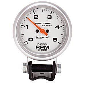 "Autometer 2-5/8"" TACH, 5,000 RPM, DIESEL"