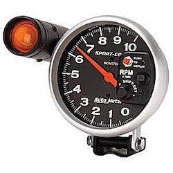 "Autometer 5"" TACH, 10,000 RPM, SHIFT-LITE,"