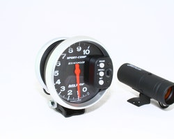 """Autometer 5"""" dia.  10 000 rpm. Med stor Shift-lampa + memory recall"""