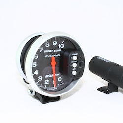 "Autometer 5"" dia.  10 000 rpm. Med stor Shift-lampa + memory recall"