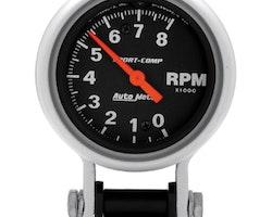 """Autometer 2-5/8"""" TACH, 8,000 RPM"""