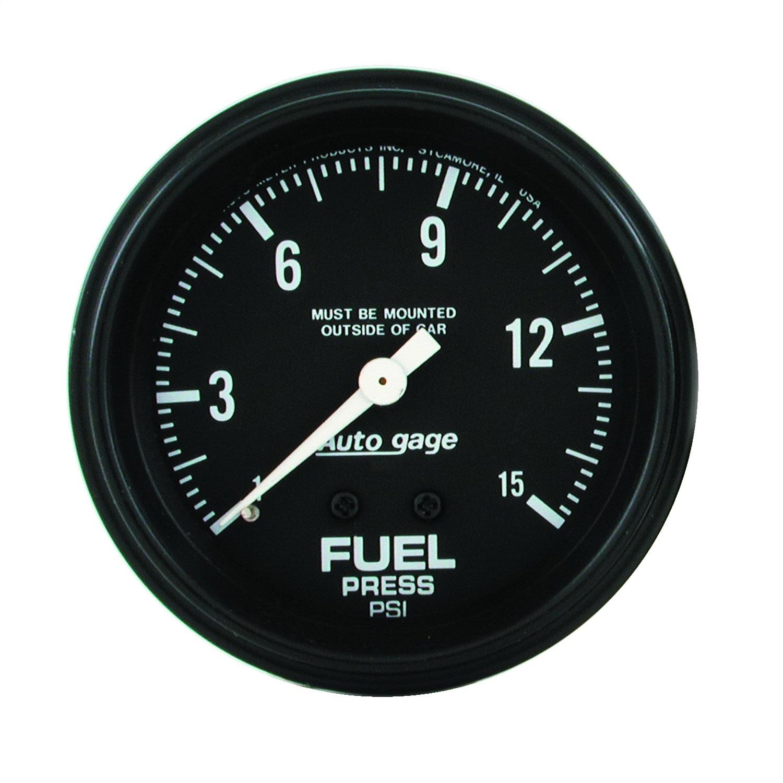 "Autometer FUEL PRESSURE, 2 5/8"" 0-15PSI"