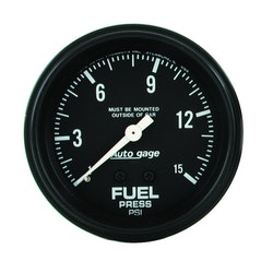 "Autometer FUEL PRESSURE, 2 5/8"" 0-15PSI"