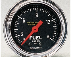 "Autometer 2"" FUEL PRESS, 0-15 PSI"