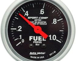 Autometer bränsletrycksmätare Mekanisk  0-1,0 Bar