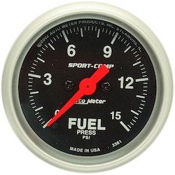 "Autometer Sport-Comp 2-1/16"" bränsletryck"