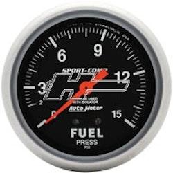 "Autometer 2-5/8"" FUEL PRESS, 0-15 PSI"