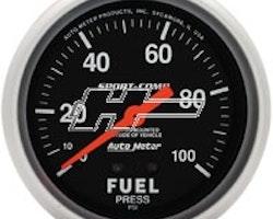 "Autometer 2-5/8"" FUEL PRESS, 0-100 PSI"