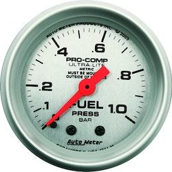 Autometer Mekanisk br.trycksmätare 0-1,0 Bar