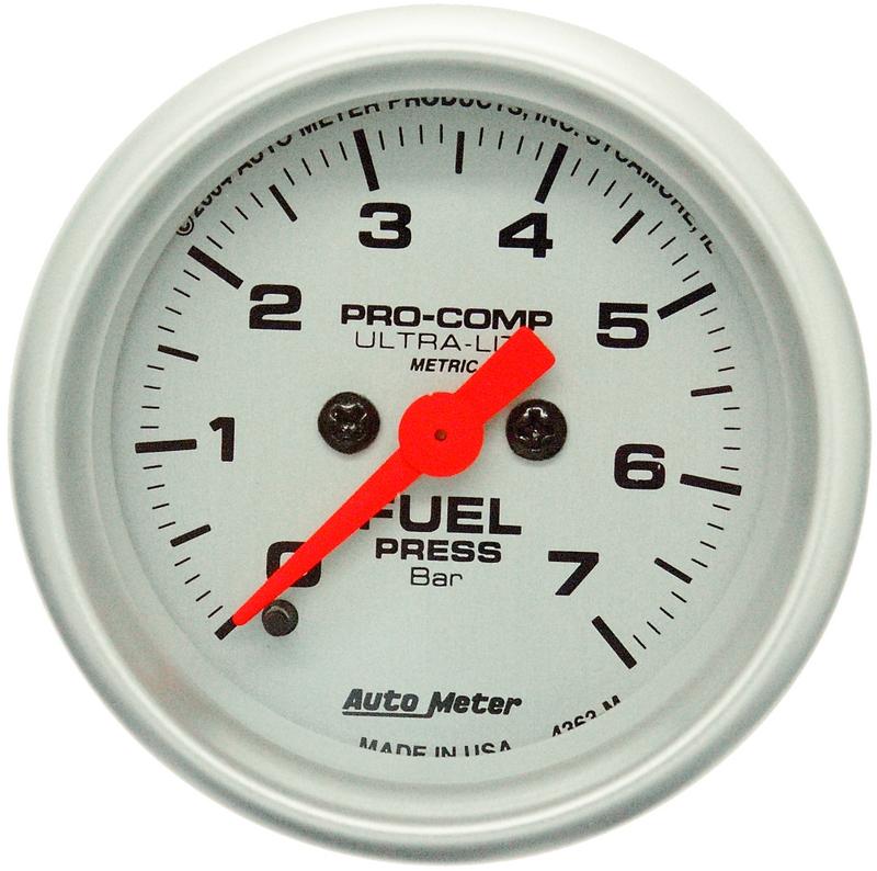 Autometer Elektrisk br.trycksmätare 0-7 Bar