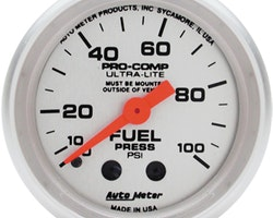 "Autometer Mekanisk 2"" FUEL PRESS, 0-100 PSI"