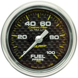 "Automter Elektrisk 2"" FUEL PRESS, 0-100 PSI"