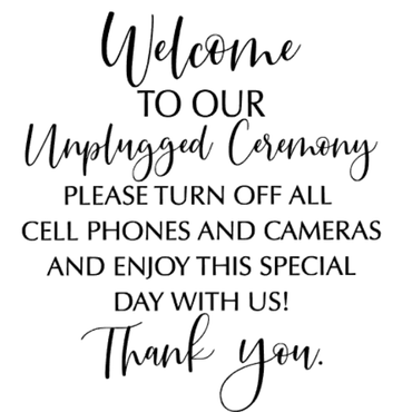 """unplugged ceremony"" vinyltryck 20x20 cm"